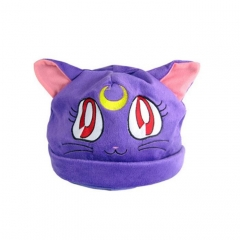 Pretty Soldier Sailor Moon Cute Cartoon Cosplay For Winter Unisex Anime Plush Hat