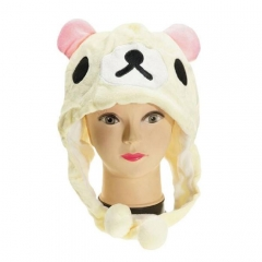 Rilakkuma Cute Cartoon Cosplay For Winter Unisex Anime Plush Hat