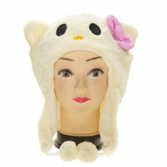 Hello Kitty Cute Cartoon Cosplay For Winter Unisex Anime Plush Hat