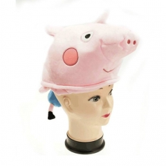 Peppa Pig Cute Cartoon Cosplay For Winter Unisex Anime Plush Hat