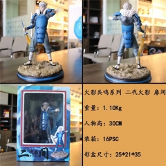 Naruto Senju Tobirama Anime Figure PVC Collection Cartoon Model Toy 30cm