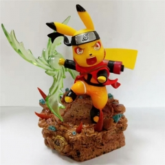 Naruto Pikachu Cartoon Character Anime PVC Figure Model Toy 14cm