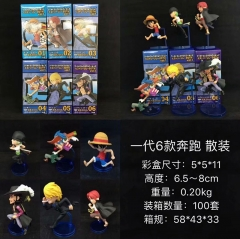 One Piece 1 Generation Cartoon Cosplay Anime Figure Collection Model Toy (6pcs/set)