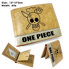 One Piece Anime Cosplay PU Purse Folding Anime Short Wallet