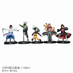 Naruto 152# Cosplay 12 Generation Cartoon Character Model Toy Anime Figure 9cm 5Pcs/Set