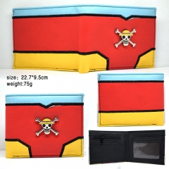 One Piece Luffy Cartoon Design Coin Purse Wholesale Rubber Anime PVC Wallet