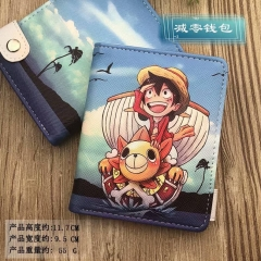 One Piece Cartoon Cosplay Purse PU Leather Anime Short Wallet