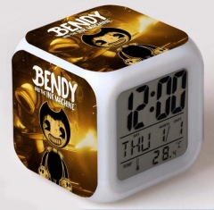 Bendy and the Ink Machine Cartoon Colorful Change Anime Clock