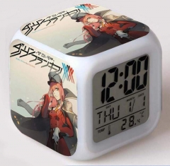 DARLING in the FRANXX Cartoon Colorful Change Anime Clock