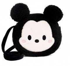 Disney Mickey Mouse Cartoon Pattern For Kids Coin Pocket Crossbody Plush Bag