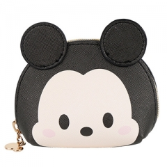 Disney Mickey Mouse Cartoon Pattern Card Bag Purse Portable PU Coin Wallet