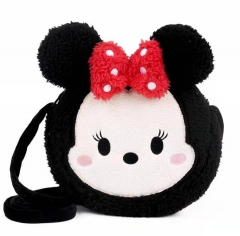 Disney Minnie Mouse Cartoon Pattern For Kids Coin Pocket Crossbody Plush Bag