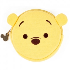 Disney Winnie the Pooh Cartoon Pattern Card Bag Purse Portable Plush Coin Wallet