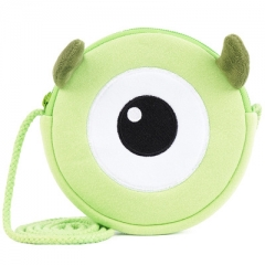Monsters, Inc. Cartoon Pattern Small Size For Kids Coin Pocket Crossbody Plush Bag