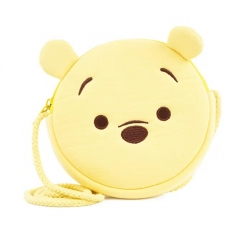 Disney Winnie the Pooh Cartoon Pattern Small Size For Kids Coin Pocket Crossbody Plush Bag