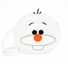 Disney Frozen Cartoon Pattern For Kids Coin Pocket Crossbody Plush Bag