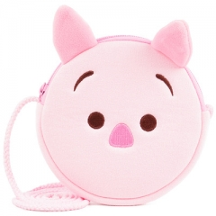 Peppa Pig Cartoon Pattern Small Size For Kids Coin Pocket Crossbody Plush Bag