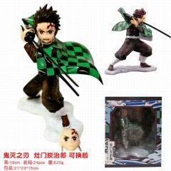 Demon Slayer: Kimetsu no Yaiba Kamado Tanjirou Cartoon Character Design Model Toy Anime PVC Figure 18cm