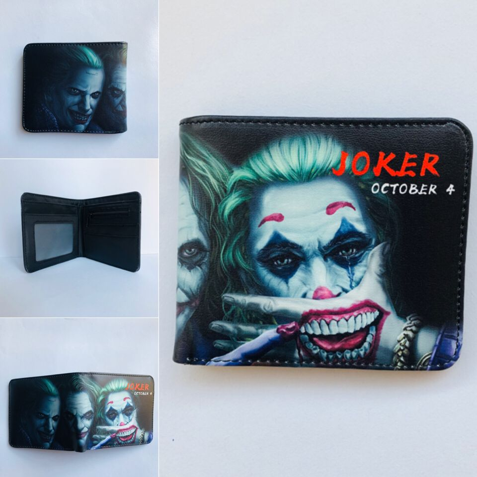 Suicide Squad Movie Colorful Coin Purse Bifold PU Anime Short Wallet