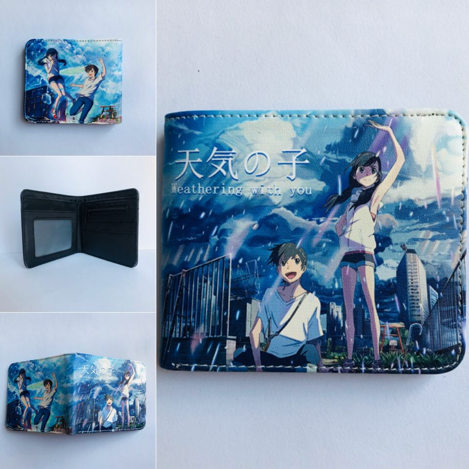 Tenki no Ko Cartoon Colorful Coin Purse Bifold PU Anime Short Wallet