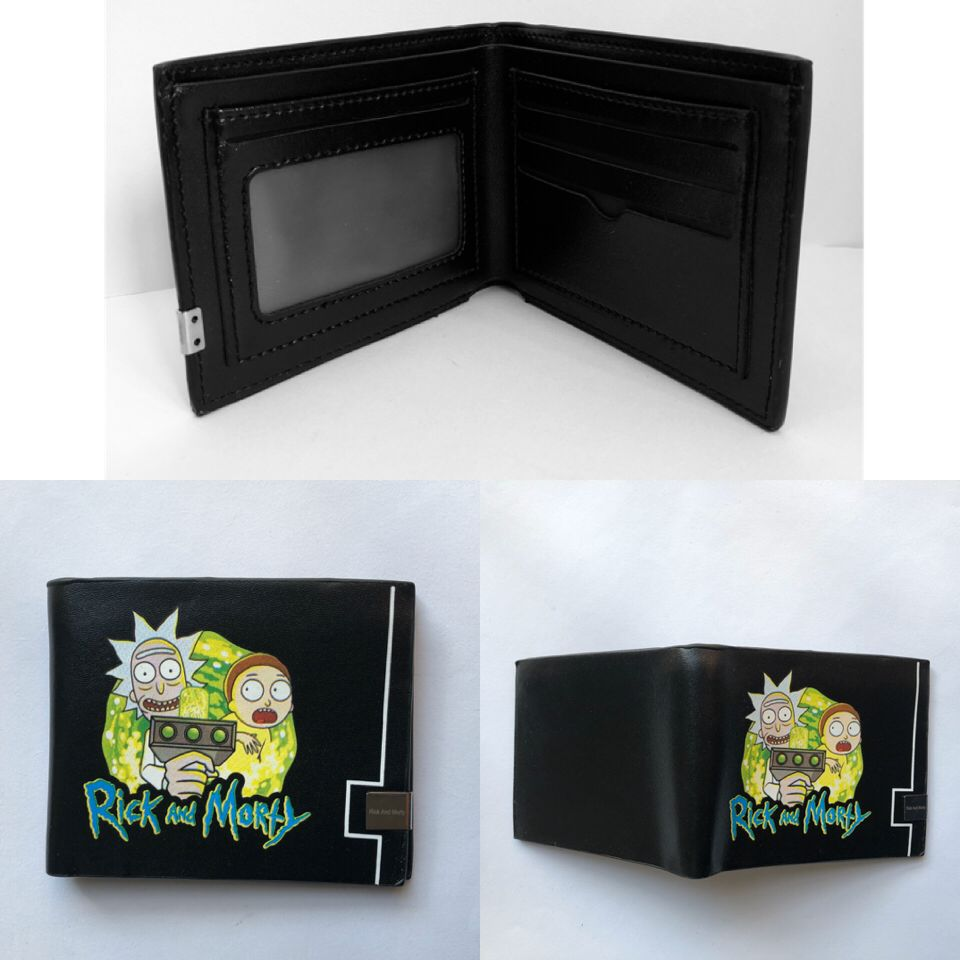 Rick and Morty Cartoon Coin Purse Bifold Leather Anime Short Wallet