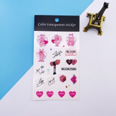 K-POP BLACKPINK Decorative Transparent Sticker