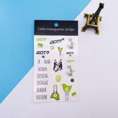 K-POP GOT7 Decorative Transparent Sticker
