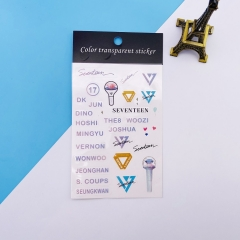 K-POP SEVENTEEN Decorative Transparent Sticker