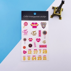 K-POP TWICE Decorative Transparent Sticker