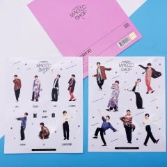 K-POP BTS Bulletproof Boy Scouts Decorative Transparent Sticker (2pcs/set)