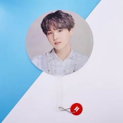 K-POP BTS Bulletproof Boy Scouts SUGA Bangtan Boys Paper Fan