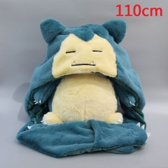 Pokemon Snorlax Cartoon Stuffed Doll Toy Anime Plush Hat 110cm