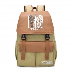 Attack on Titan Cartoon Fashion Canvas School Bag Student Anime Backpack Bags