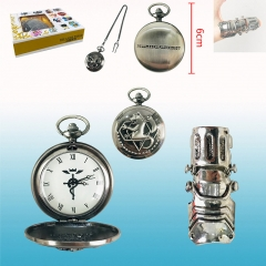 Fullmetal Alchemist Cartoon Cosplay Wholesale Anime Pocket Watch+Ring Set