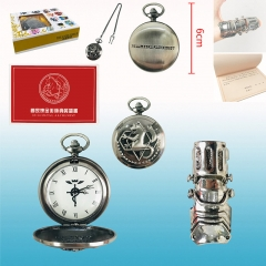 Fullmetal Alchemist Cartoon Cosplay Wholesale Anime Pocket Watch+Ring+Certificate Set