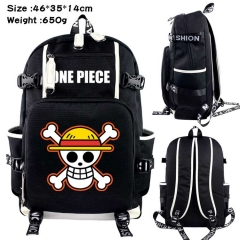 One Piece Anime Cosplay Cartoon Canvas Colorful Backpack Bag