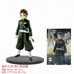 Demon Slayer: Kimetsu no Yaiba Kamado Tanjirou Cartoon Model Toy Collection Anime PVC Figure 17cm