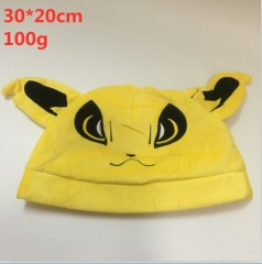 Pokemon Jolteon  Design Cartoon Stuffed Cap Kawaii Anime Plush Hat 30*20cm