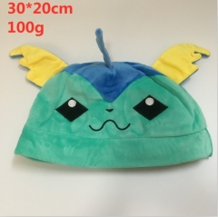 Pokemon Vaporeon Design Cartoon Stuffed Cap Kawaii Anime Plush Hat 30*20cm