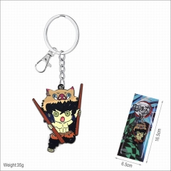 Demon Slayer : Kimetsu no Yaiba Cartoon Pendant Fashion Jewelry Decoration Anime Keychain