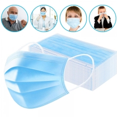 3 Layers Earloop Medical Disposable Medical Surgical Face Masks (50pcs/pack)