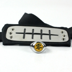 Naruto Cartoon Cosplay Anime Headband+Ring
