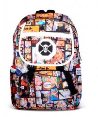 One Piece Bag Law Logo Black Canvas Anime Backpack Bags