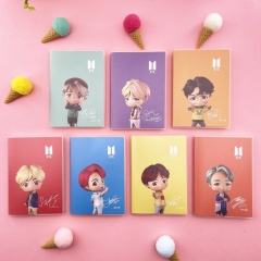 7 Styles K-POP BTS Bulletproof Boy Scouts Cartoon Q-version Stationery Anime Paper Notebook