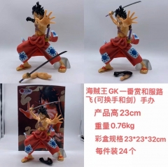 One Piece GK lchiban kuji Kimono Monkey D. Luffy  Wano Country Cartoon Character Model Toy Anime PVC Figure 23cm