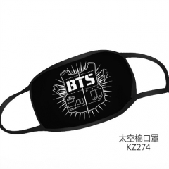 2 Styles K-POP BTS Bulletproof Boy Scouts   Space Cotton Anime Print Mask