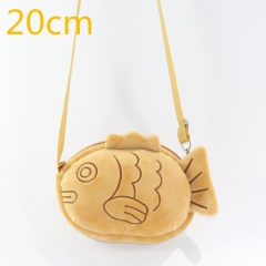Thick Fish Roast  Cute Cartoon Doll Anime Plush Crossbody Bag