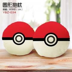 Poké Ball Anime Pattern Cartoon Cute Plush Round Pillow