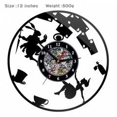 Alice in Wonderland PVC Anime Wall Clock