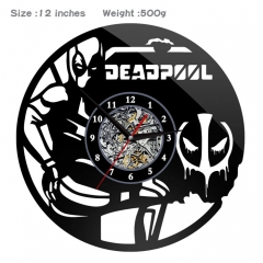 Deadpool PVC Anime Wall Clock Wall Decorative Picture